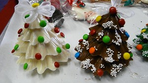 Solid Chocolate Christmas Trees
